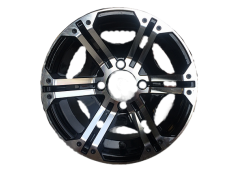 Machined Aluminum Mini Truck Wheel in Black [1 set of 4]  4x100